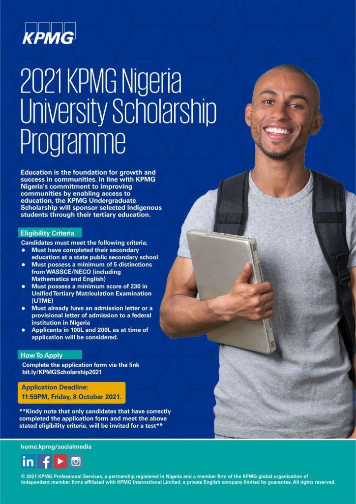KPMG Nigeria University Scholarship Program 2021 for Young Nigerians