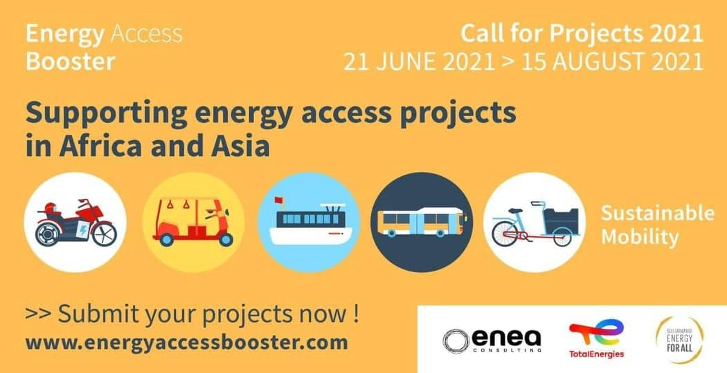 TotalEnergies Energy Access Booster 2021 for Entrepreneurs with Energy Projects in Africa & Asia
