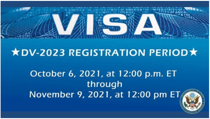 US State Department Electronic Diversity Visa Lottery (DV-2023) – Live & Work in the US